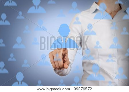 Human Resource Conceptual Rain on Screen