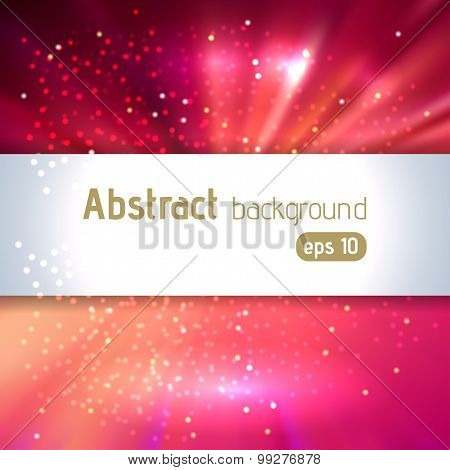 Red Motion Abstract Background With Place For Text, Vector Illustration
