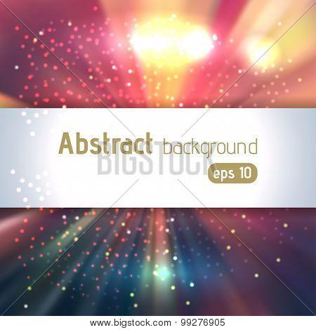 Abstract Colorful Space Background