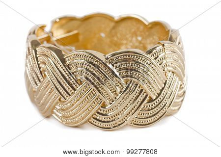 antique gold bracelet on white