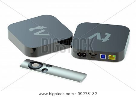 Digital Media Players Back And Front View