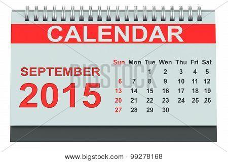 September 2015, Desk Calendar