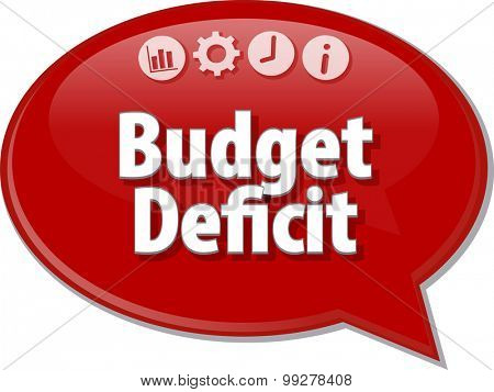Blank business strategy concept infographic diagram illustration Budget Deficit