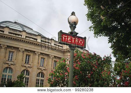 Metro Sign In Paris France