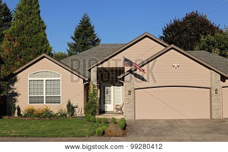 Family Home In Suburban Neighborhood