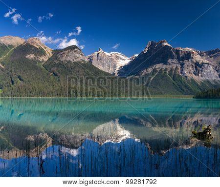 Reflections At Beautiful Emerald Lake
