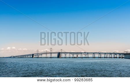 Chesapeake Bay Bridge In Marland