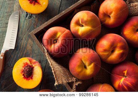 Raw Organic Yellow Peaches