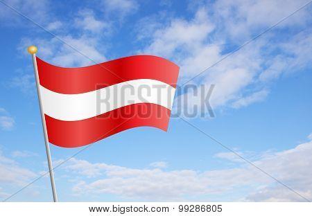 Austrian Flag Against Sky