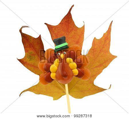 Maple leaf with Turkey Lollipop