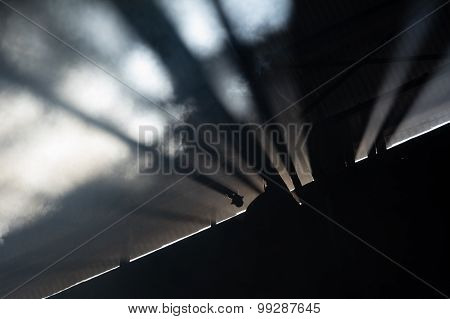 Rays Of Sunlight In An Industrial Space