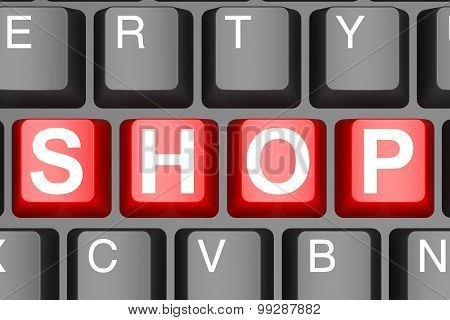 Shop Word On Computer Keyboard