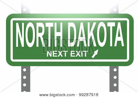 North Dakota Green Sign Board Isolated