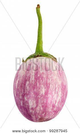 Heirloom Eggplant Isolated On White