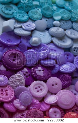 Plastic Craft Buttons