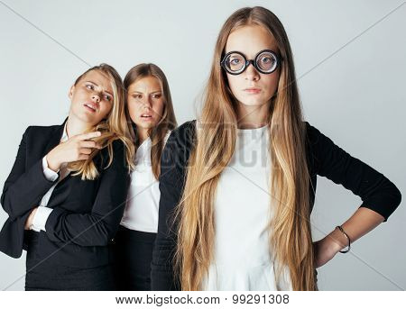 new student bookwarm in glasses against casual group