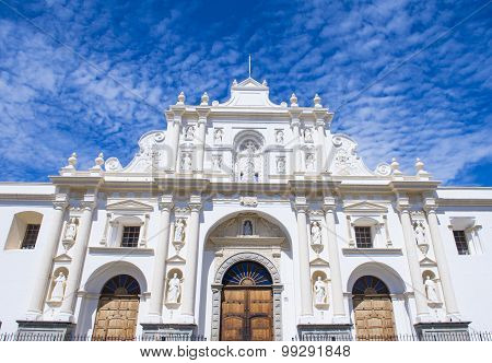 The Cathedral Of Santiago In Antigua