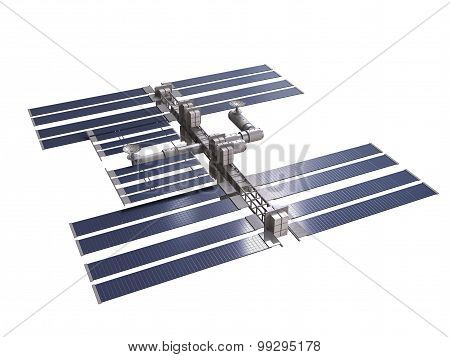 Space Station 3D Render With Clipping Path