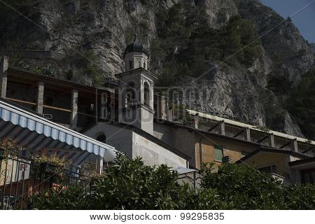 Bell tower by limone sul Garda.