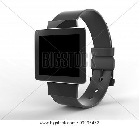 Blank Smart Watch Template Illustration With Clipping Path