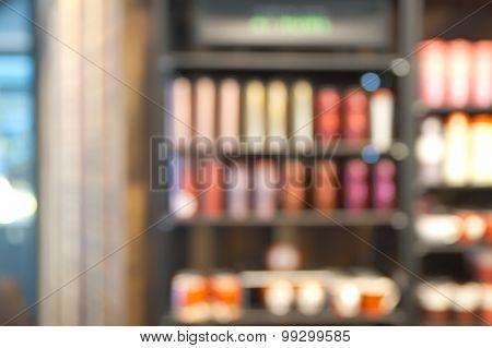 Blurry shelf