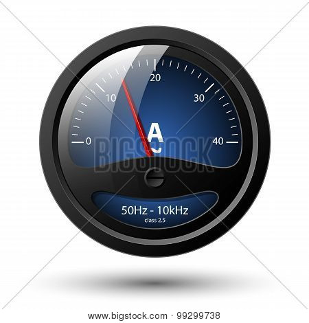 Vector Ammeter Icon