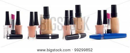 Stack of cosmetics.