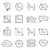Постер, плакат: Quote blank vector template set