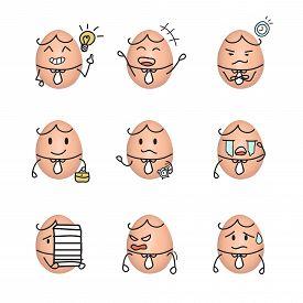 pic of emoticon  - Egg emoticon  - JPG