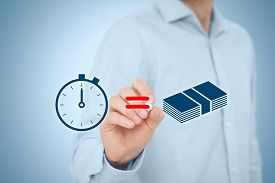 picture of time-saving  - Time is money concept - JPG