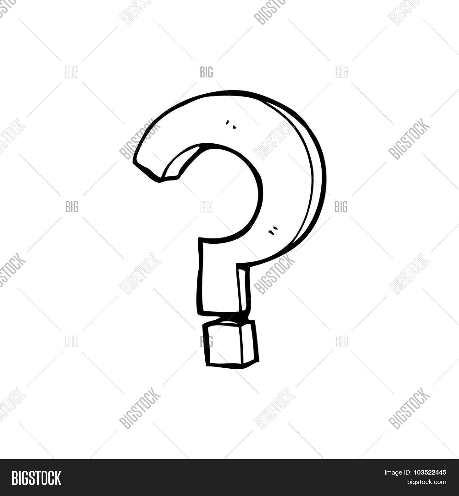 Line Drawing Question Mark : Simple black white line drawing vector photo bigstock