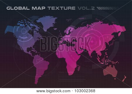 World vector map globe Earth texture