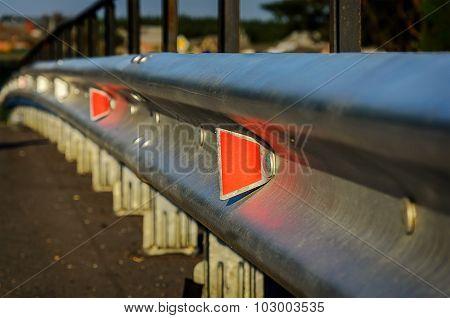 Reflector of a guardrail.