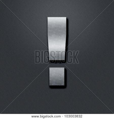 The Exclamation Mark Shabby Metal Chromium