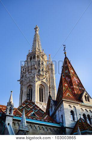 Budapest Matthias Church Roof