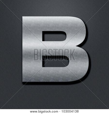 Letter Shabby Metal Chromium - B