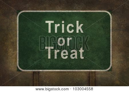 Scary Trick Or Treat Roadside Sign