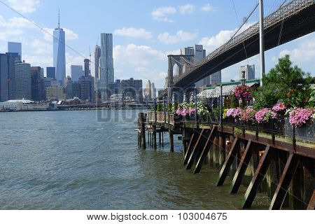 Flowery Pier on East River at Brooklyn