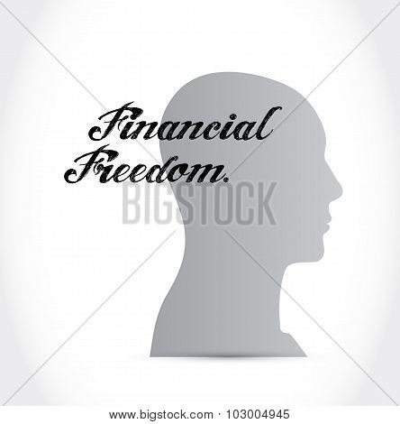 Financial Freedom Mindset Sign Concept