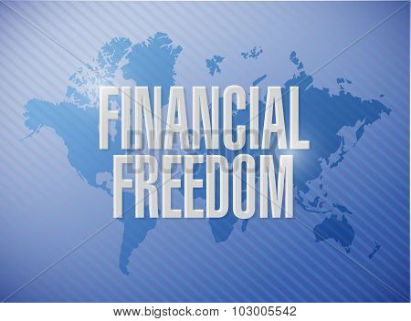 Financial Freedom International World Map Sign