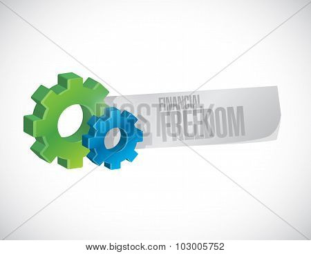 Financial Freedom Business Industrial Sign Concept