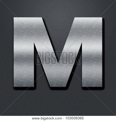 Letter Shabby Metal Chromium - M