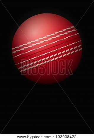 Dark Background of cricket ball. Vector Illustration.