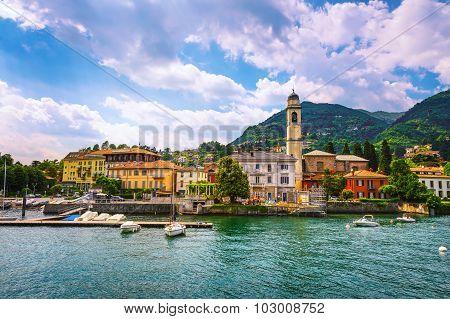 Cernobbio Town, Como Lake District Landscape. Italy, Europe.