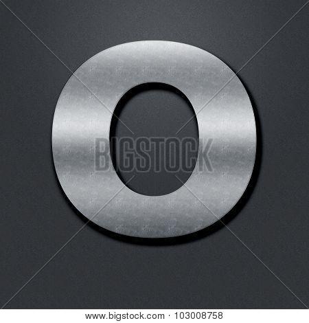 Letter Shabby Metal Chromium - O