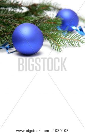 blau Christmas bulb