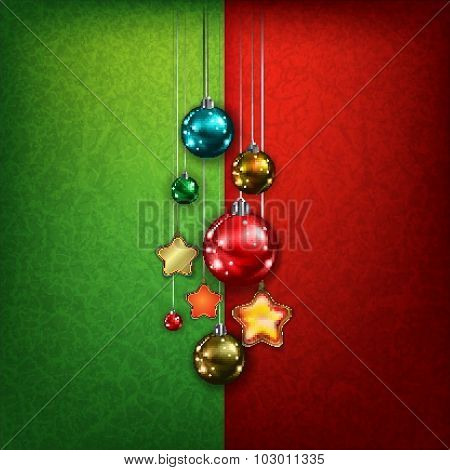 Celebration Greeting With Christmas Decorations