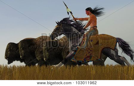 Indian And Paint Horse