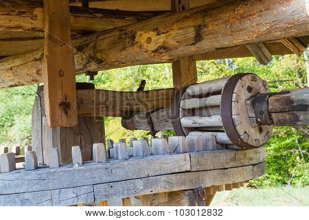 Old Wooden Watermill .