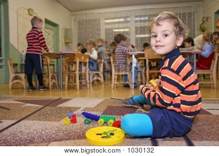 Child Play In Kindergarten